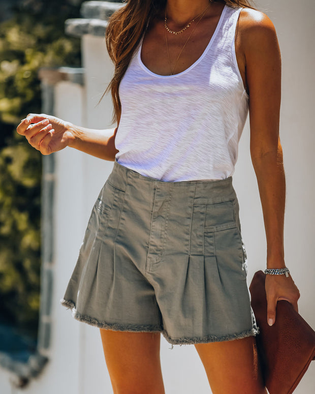 Ruth Cotton Pocketed Utility Shorts