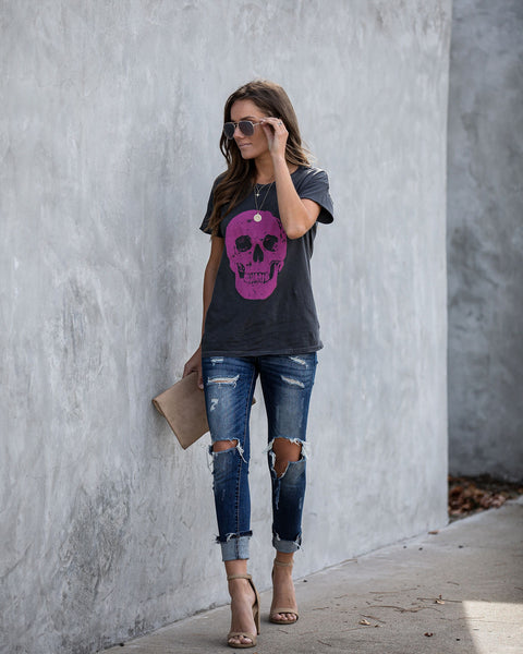 Jaw Dropping Cotton Skull Tee  - FINAL SALE