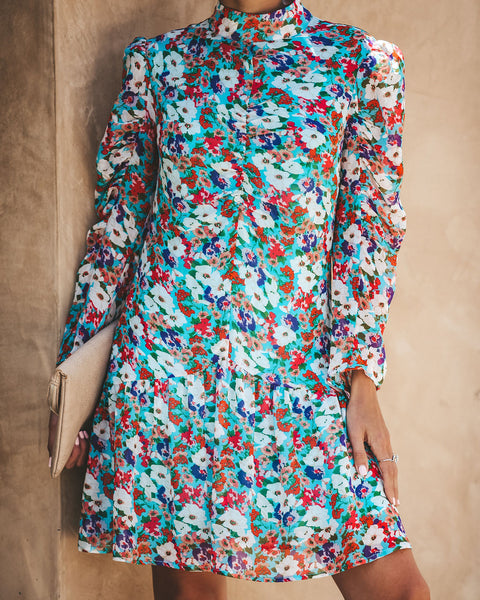 Summer Of Love Ruched Floral Dress