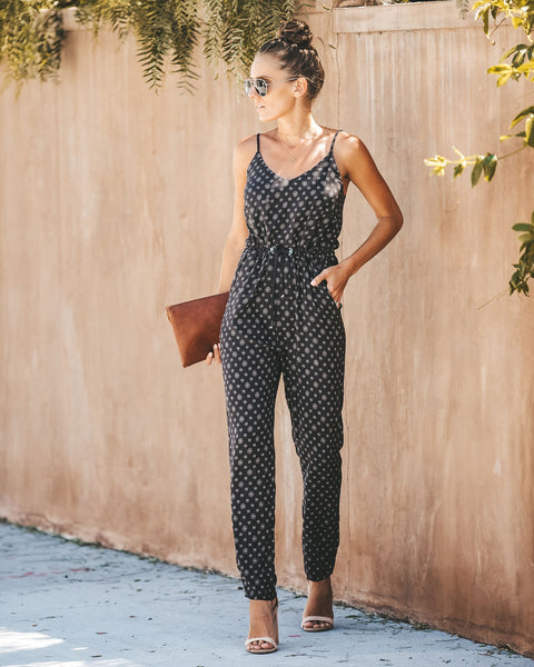 No Worries Pocketed Drawstring Jumpsuit
