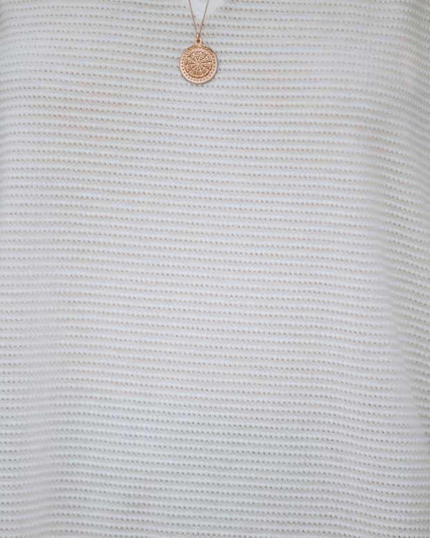 Lewie Unfinished Thermal Tee - Ivory