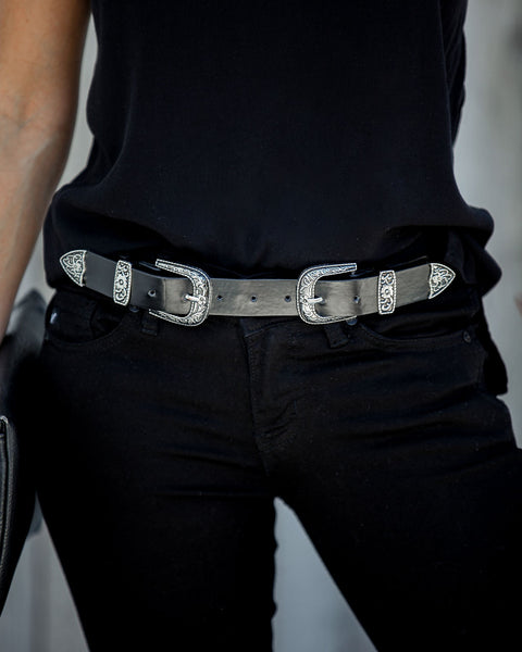 Ways Of The West Double Buckle Belt