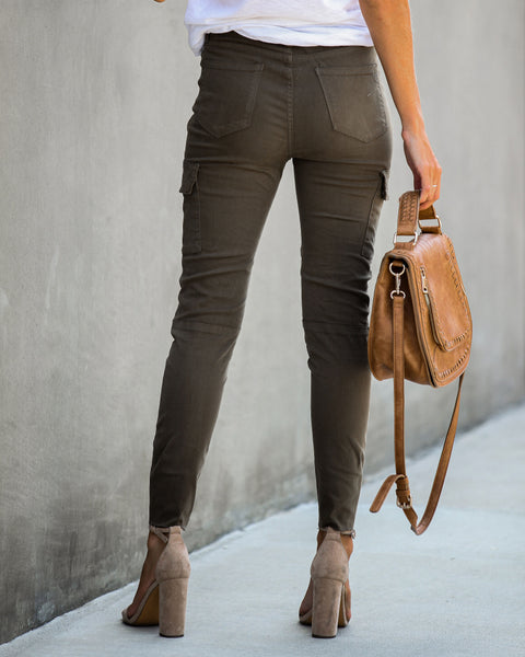 Take You There Pocketed Cargo Skinnies - FINAL SALE