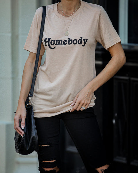 Such A Homebody Cotton Blend Tee - FINAL SALE