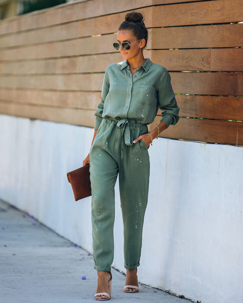 Craftsmanship Pocketed Tencel Utility Jumpsuit