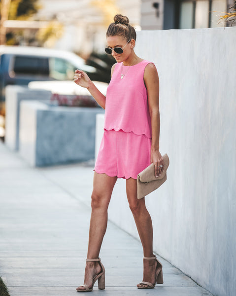 Elle Scalloped Shorts - FINAL SALE