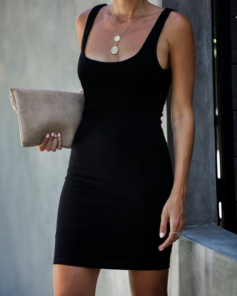 After Party Bodycon Dress - Black