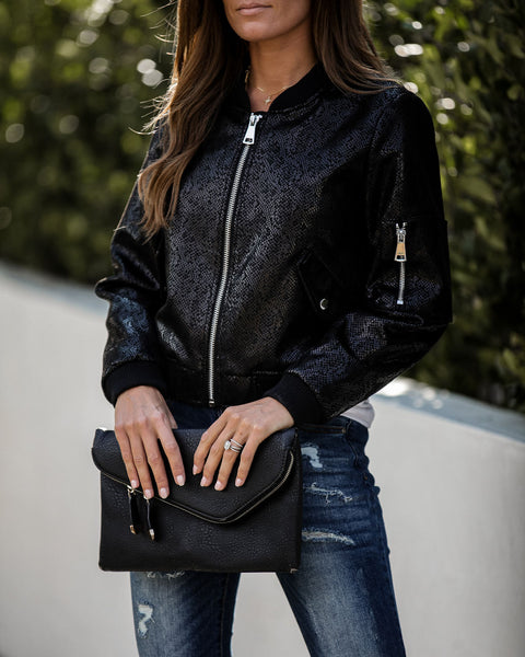 Become A VIP Pocketed Bomber Jacket