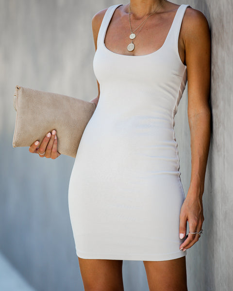 After Party Bodycon Dress - Nude - FINAL SALE