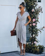 Nothing In This World Pocketed Twist Midi Dress - FINAL SALE