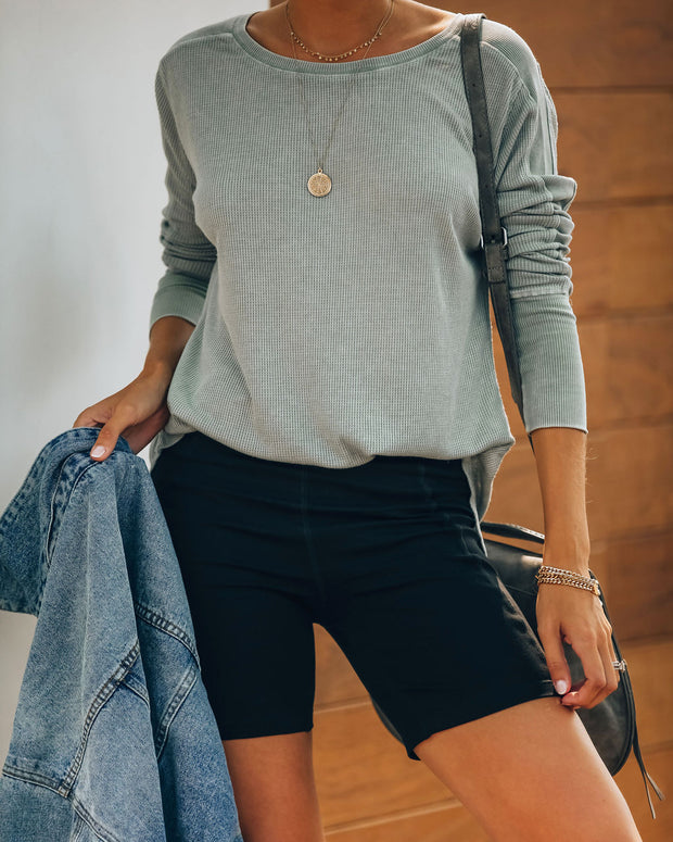 Joshua Tree Washed Knit Top - Sage