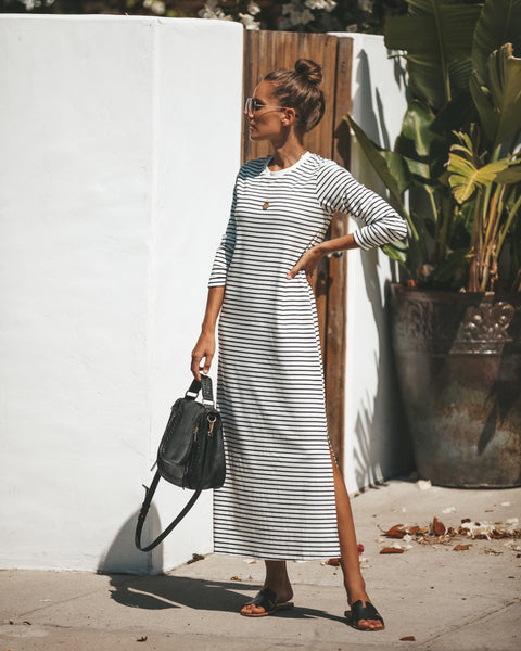Daily Look Striped Maxi Dress - FINAL SALE