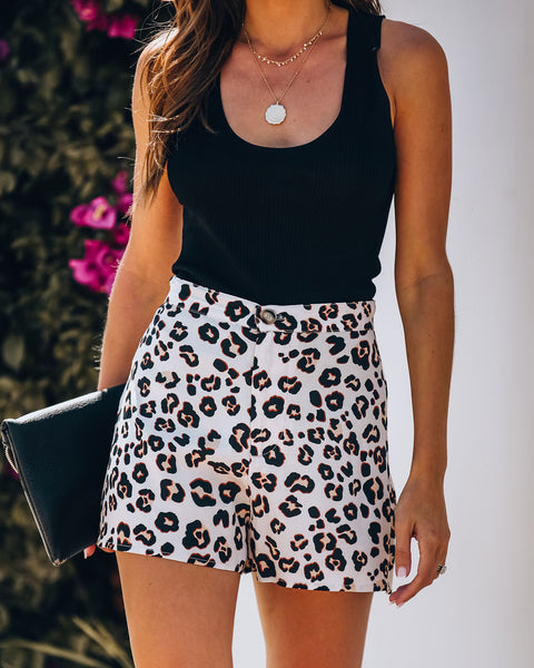 Tres Chic High Waisted Leopard Shorts - FINAL SALE