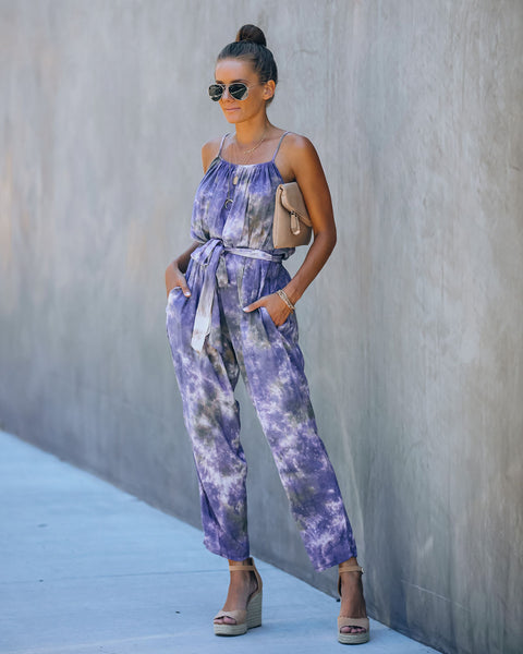 Marcie Pocketed Tie Dye Jumpsuit