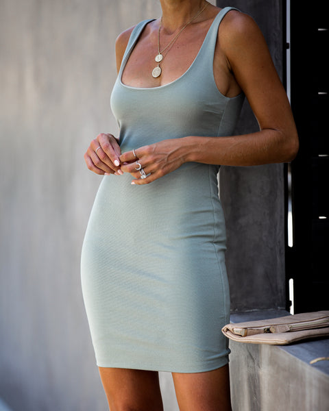 After Party Bodycon Dress - Sage - FINAL SALE