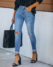 Downsize High Rise Distressed Skinny