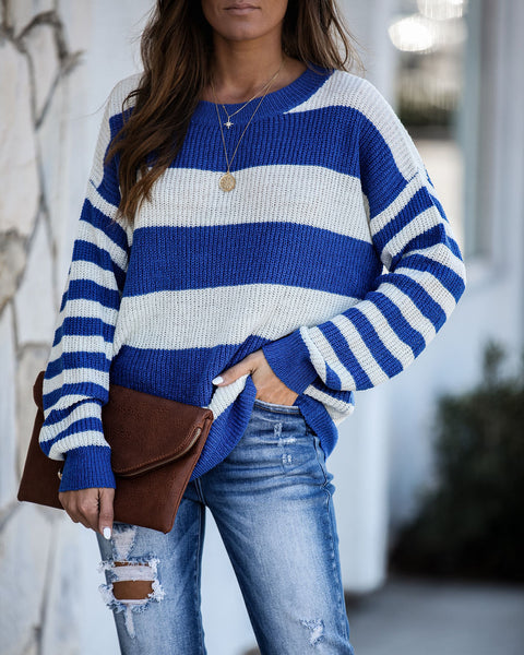 Tulsa Striped Knit Sweater - FINAL SALE