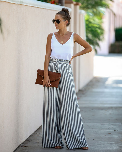 Alternative Style Striped Tie Pants