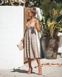 Berit Cotton Pocketed Dress - Taupe - FINAL SALE