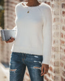 Unforgettable Fuzzy Knit Sweater - Ivory