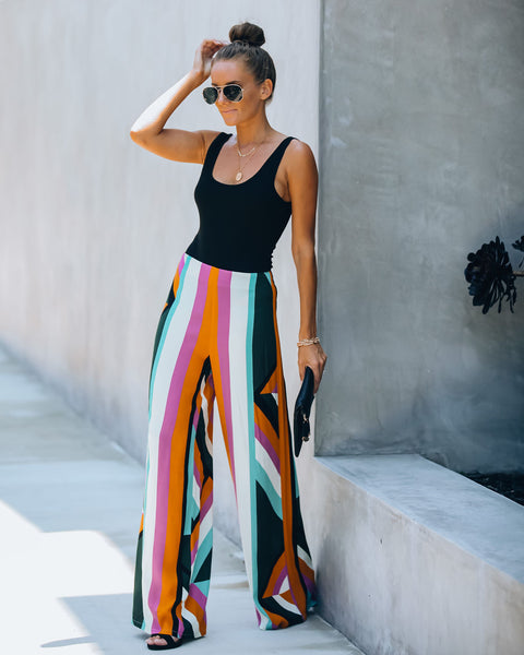 Budapest Printed Wide Leg Pants