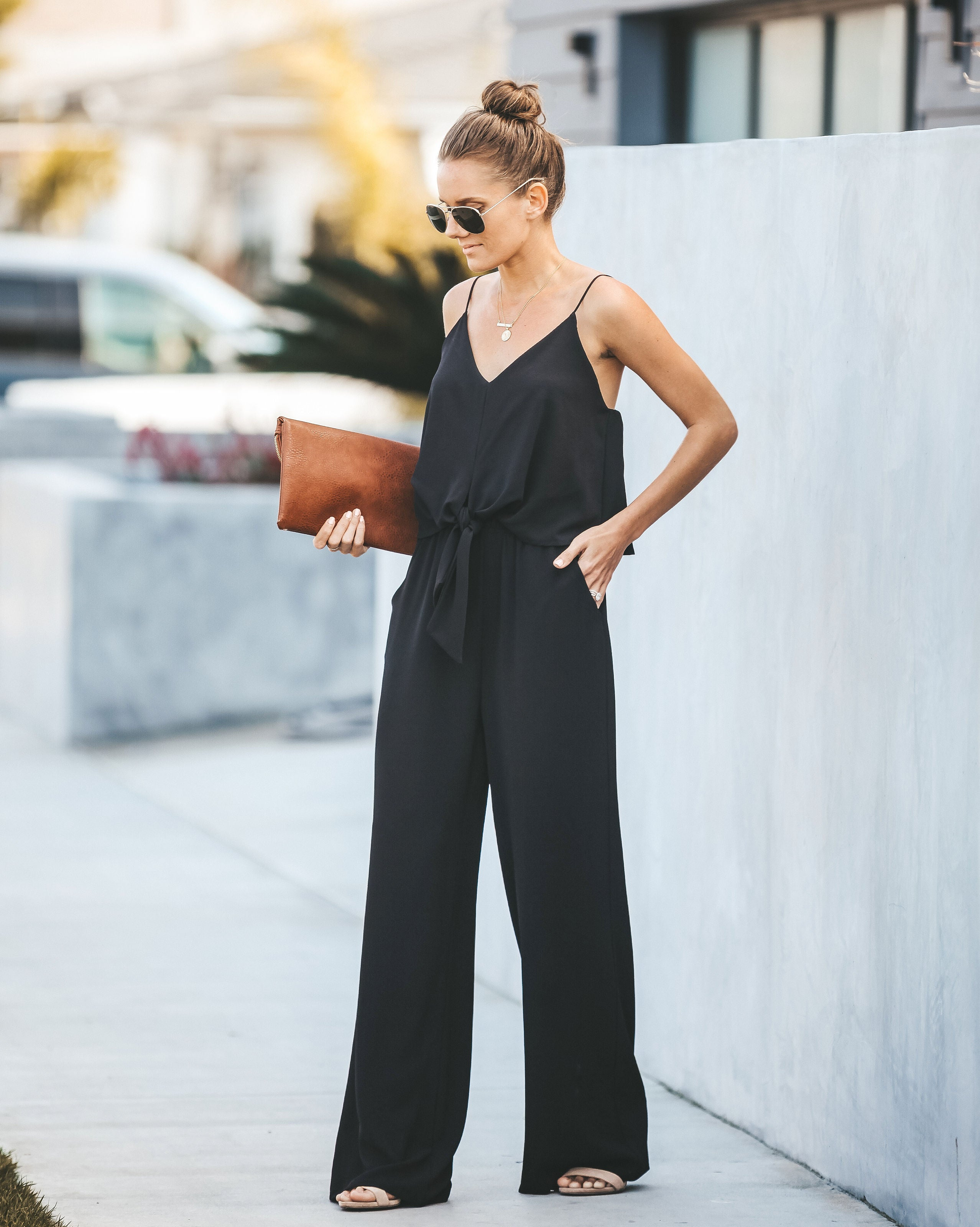 974655d449e5 Run To Me Pocketed Tie Jumpsuit - Black – VICI