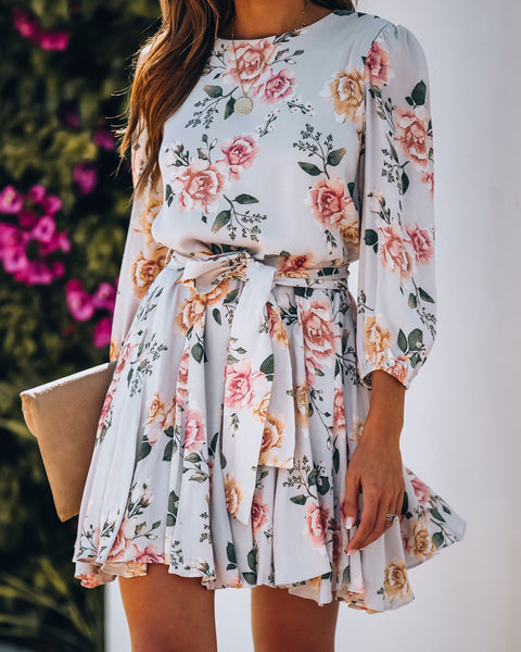 Sing And Swing Floral Tie Dress - FINAL SALE