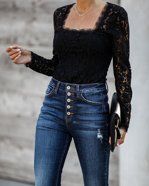 Soundtrack Long Sleeve Lace Bodysuit  - FINAL SALE