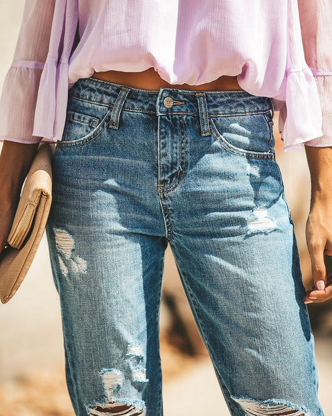 Mason Distressed Boyfriend Denim