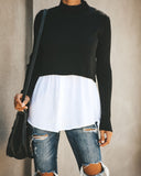 Contrast Scarlett Top - Black