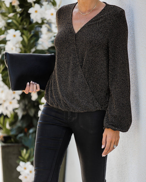 Lover Of The Light Shimmer Drape Top - FINAL SALE