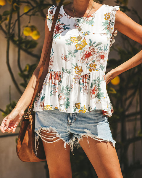 Flowers In Your Hair Tiered Babydoll Top