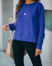 Paint The Town Cotton Blend Pullover - Blue