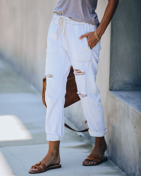 Rico Cotton Pocketed Denim Joggers