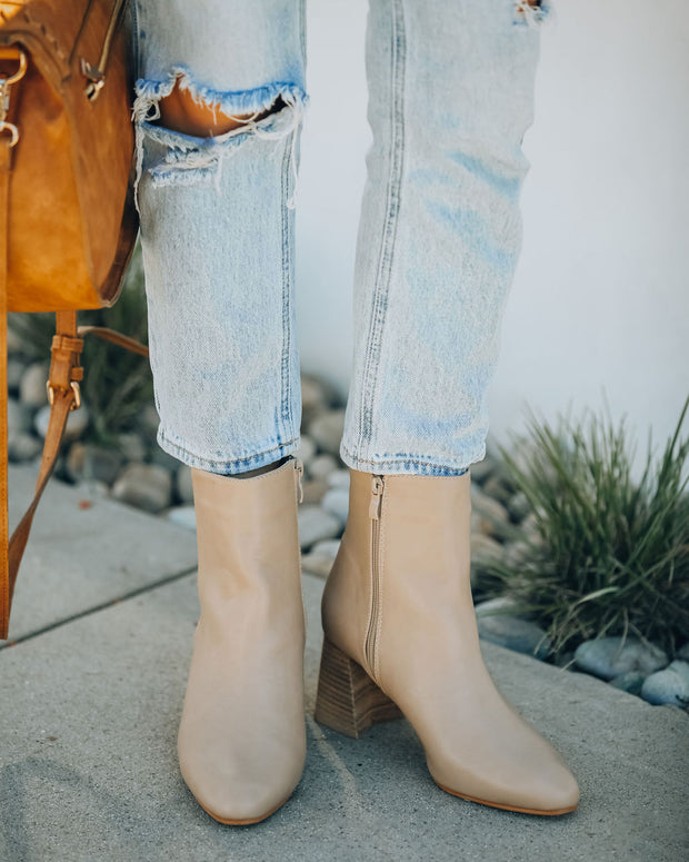Colleen Heeled Bootie - Taupe