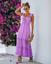 Bodi Smocked Ruffle Tiered Maxi Dress
