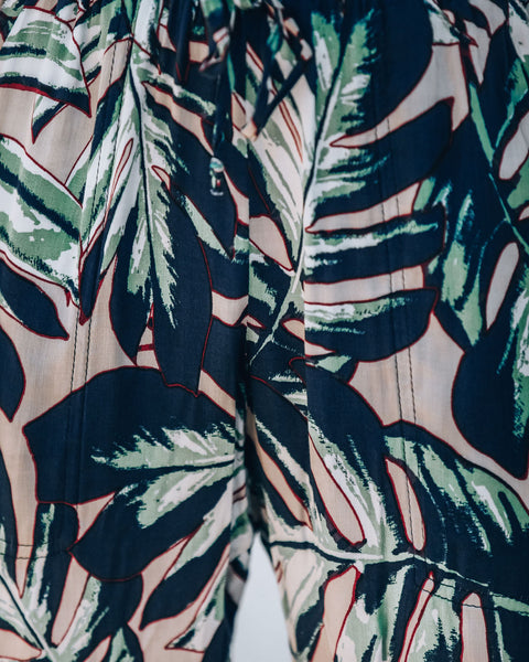 Positive Vibes Pocketed Palm Print Joggers