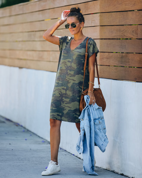 Theodore Camo Knit T-Shirt Dress