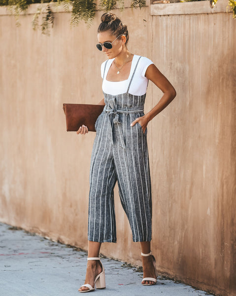 Jack + Jill Linen Pocketed Overalls