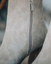Colleen Heeled Bootie - Light Grey view 4
