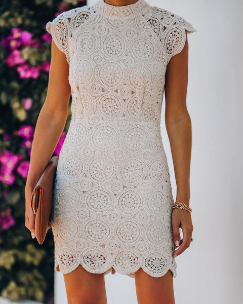 Chamomile Cotton Crochet Lace Dress