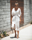 Faithful Adjustable Button Down Dress - Taupe