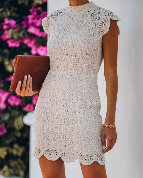 Chamomile Cotton Crochet Lace Dress - FINAL SALE