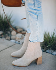 Colleen Heeled Bootie - Light Grey view 6