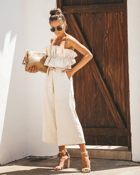 PREORDER - Rhiannon Linen Pocketed Jumpsuit