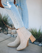 Colleen Heeled Bootie - Light Grey view 1