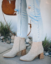Colleen Heeled Bootie - Light Grey view 2