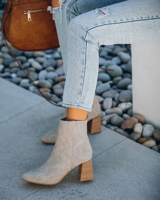 Colleen Heeled Bootie - Light Grey