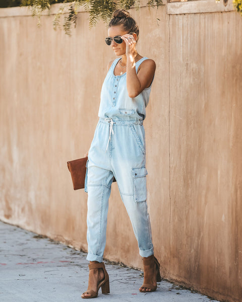 Take Your Time Tencel Pocketed Jumpsuit