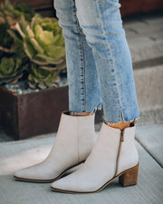 District Heeled Zip Bootie - Sand